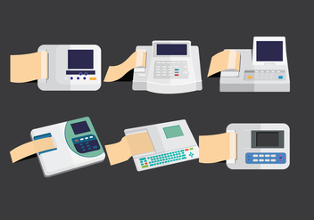 Ekg Machine Vectors - Free vector #333883