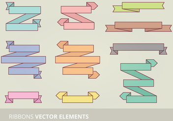 Vector Ribbon Set - Kostenloses vector #333913