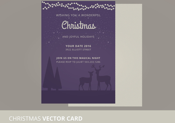 Christmas Vector Card - Free vector #333923