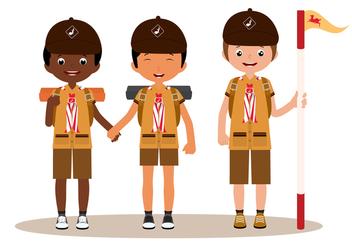 Boy Scouts Vectors - Kostenloses vector #333943