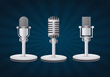 Vintage microphone - Free vector #334043