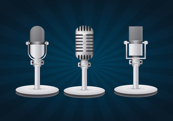 Vintage microphone - бесплатный vector #334043