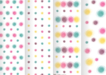 Watercolors Polka Dot Pattern - Free vector #334063
