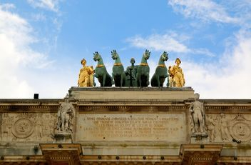 Monument of cavalry on Triumphal Arch - image gratuit(e) #334253