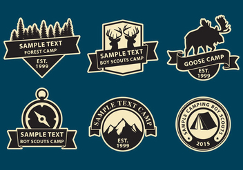 Camp Logos - vector gratuit #334413