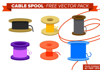 Cable Spool Free Vector Pack - vector gratuit #334563