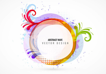 Abstract shapes vector background - vector gratuit #334643
