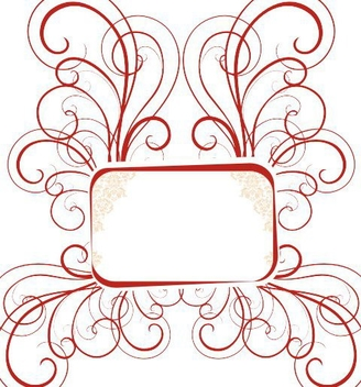 Red Swirling Frame Banner - vector gratuit(e) #334903