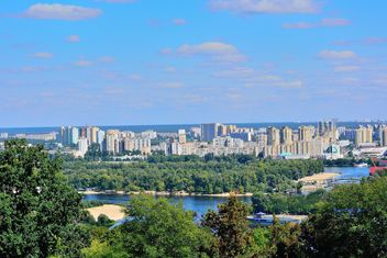 The views of the Dnipro and left shore of Kiev - бесплатный image #335063