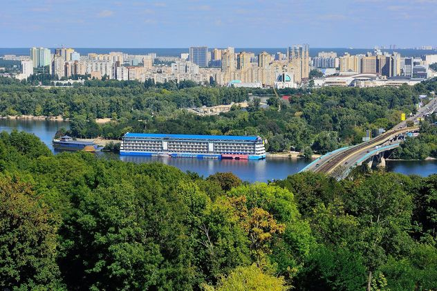 The views of the Dnipro and left shore of Kiev - бесплатный image #335073