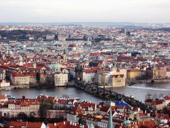 Prague from height in winter - image gratuit #335133