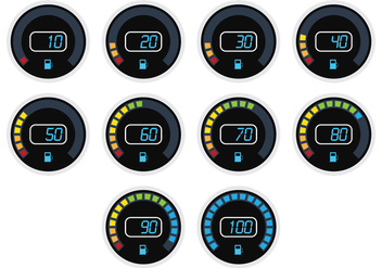 Timelapse Digital Fuel Gauge - vector gratuit #335303