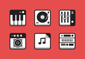 Vector Music Icon Set - Free vector #335373
