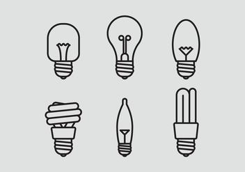 Vector Lamp Icon Set - Free vector #335383