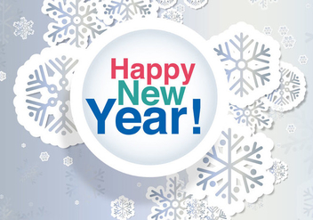 New Years Eve Card - vector #335493 gratis