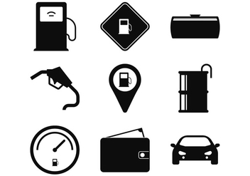 Gas Station Icon - vector #335523 gratis