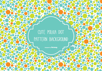 Cute Polka Dot Background - Free vector #335593