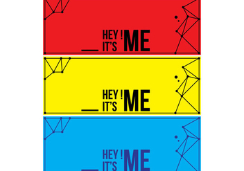 Hey Its Me Cover Facebook - Free vector #335633