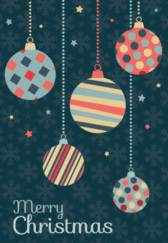 Christmas balls retro vintage design - Free vector #335663
