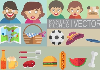 Family Picnic Vector - бесплатный vector #335763