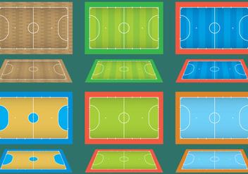 Futsal Courts - Free vector #335793
