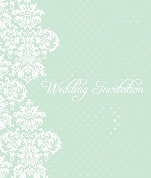 Minimal Decorative Floral Invitation - Free vector #335923