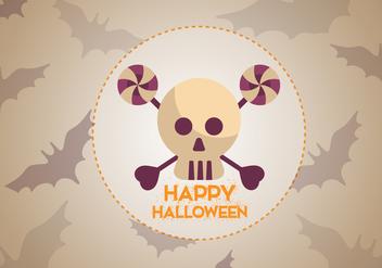 Free Skull Bats Halloween Vector - Free vector #336023