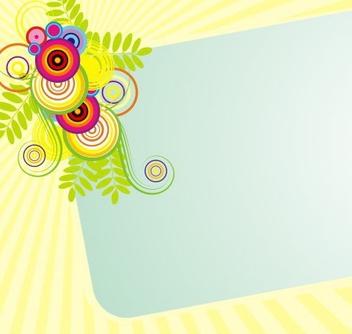 Sunburst Swirling Frame Banner - vector gratuit #336393