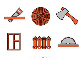 Wood Working Icons - vector gratuit #336523