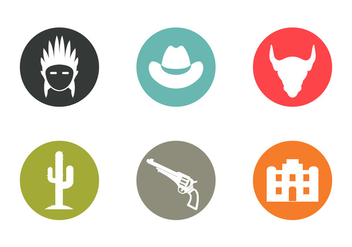 Wild West Vector Icons - Free vector #336593