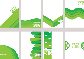 Green Annual Report Design - vector gratuit #336613