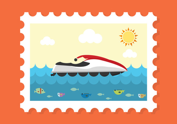 Summer Stamp Vector - бесплатный vector #336623