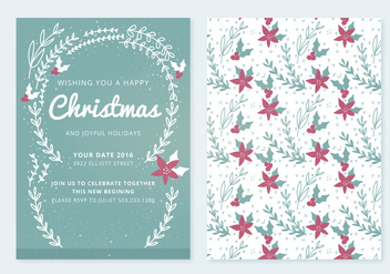 Christmas Vector Card - Free vector #336813
