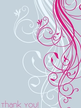 Minimal Swirls Thank You Card - Free vector #336903