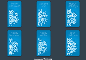 Snowflakes Christmas Label Set - vector gratuit #336923