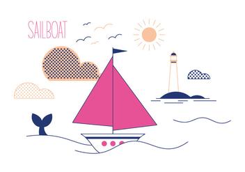 Free Sail Boat Vector - Free vector #336933