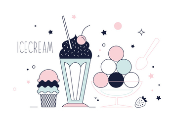 Free Ice-cream Vector - Free vector #337033