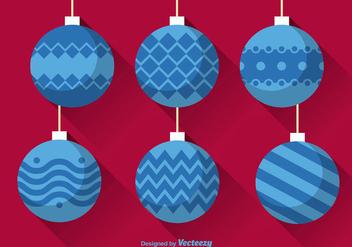 Flat christmas balls - Free vector #337173