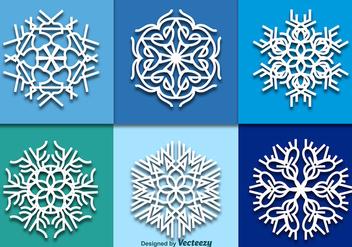 White snowflakes - Free vector #337183