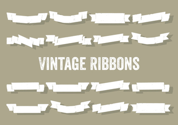 Free Set of Vintage Ribbons Vector Background - Free vector #337313