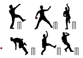 Cricket Player Vector - Kostenloses vector #337613
