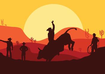 Bull Rider Vector - vector #337653 gratis