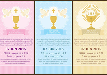 Communion Flyers - Free vector #337663