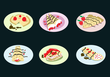 Yummy Crepes Vector - vector #337713 gratis
