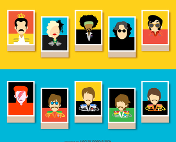Musicians avatars - Free vector #337773