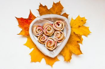 Roses made of dough and apples - Free image #337843