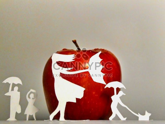 Apple and people made of paper - Free image #337873