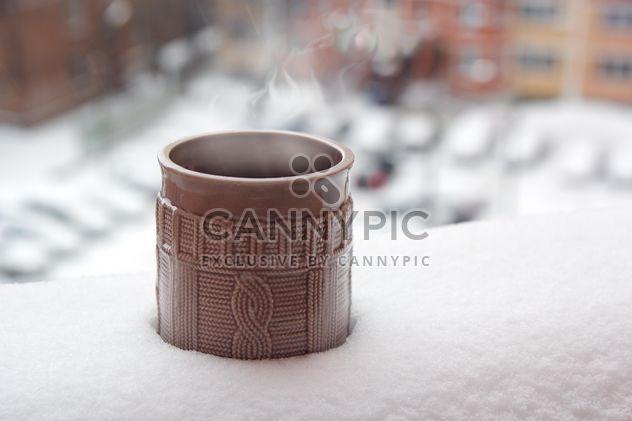Чашка кофе в снегу - Free image #337883