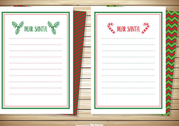 Dear Santa Note Cards Set - Free vector #337973
