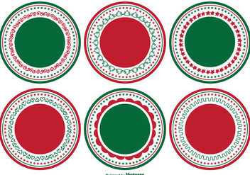 Decorative Blank Christmas Label Set - Kostenloses vector #338113